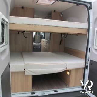 Knaus boxstar family 600 furgonato con letto basculante - Letto alla tedesca ...